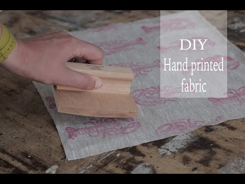 DIY printed fabric tutorial