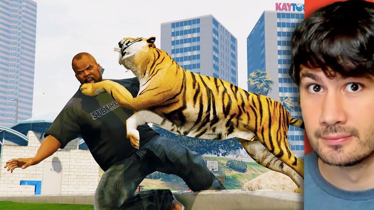Fui atacado por um tigre no GTA