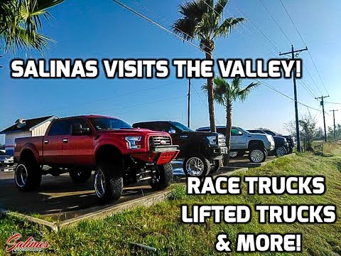 Salinas visits the valley truck scene! RGV turbo trucks lifted caddys at Espinos tires & more!