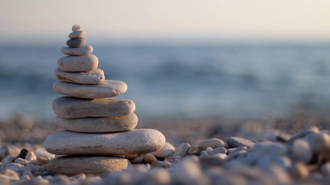 Zen Stones On The Beach Hd Stock Footage Youtube