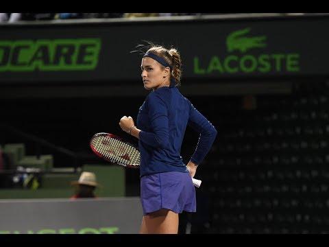 2018 Miami First Round | Monica Puig vs. Samantha Stosur | WTA Highlights