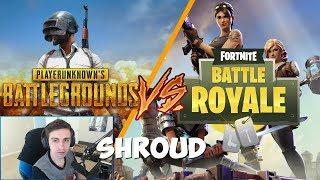 Fortnite vs PUBG vs Shroud - Cheating in fortnite? - Best Aim Ever - Best Twitch Kills