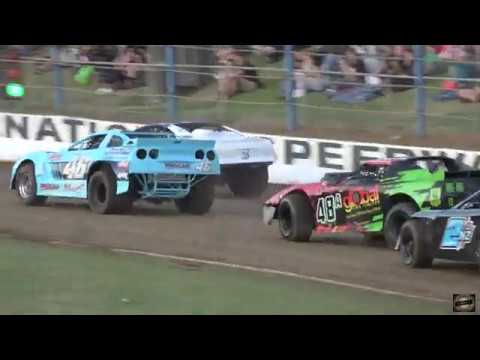 Waikaraka park speedway running the saloons & six shooters on night 1 of the tws & pts teams superstock nationals. - dirt track racing video image