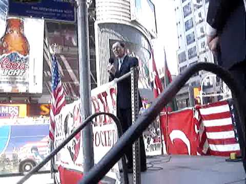 Armenian Genocide Lies- Times Square 2009- Bruce Fein