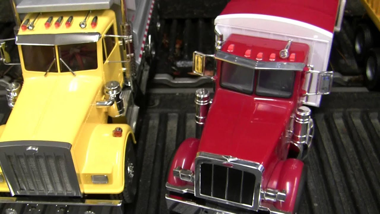 Big Dump Trucks >> Ertl Peterbilt, Bruder Mack, Tamiya King Hauler comparison ...