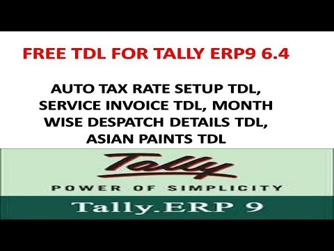 Tally Erp9 6 4 - Month Wise Despatch, Auto Tax Rate Setup, Service
