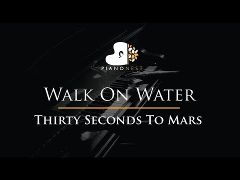 Thirty Seconds To Mars - Walk On Water - Piano Karaoke / Sing Along / Cover with Lyrics