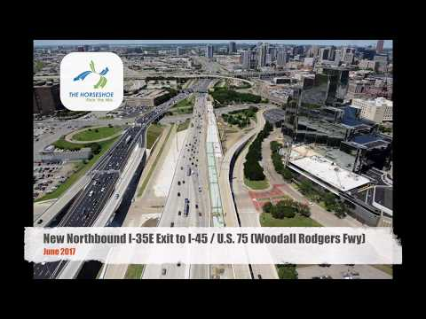 New NB I-35E Ramp to Woodall Rodgers Fwy - June 2017