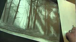 !!! How to draw Forest !!! / Wie zeichnet man einen WALD /// Freitagslektionen