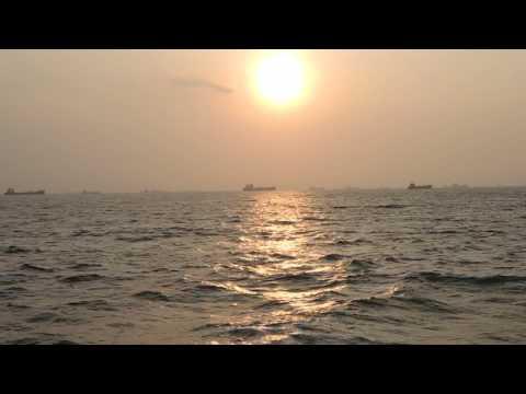 Sunset, Water, Ocean, Sunset, Sun, Ships
