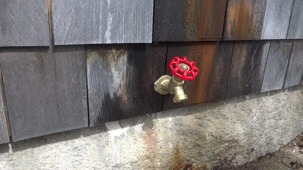 replaced outside sill faucet - YouTube