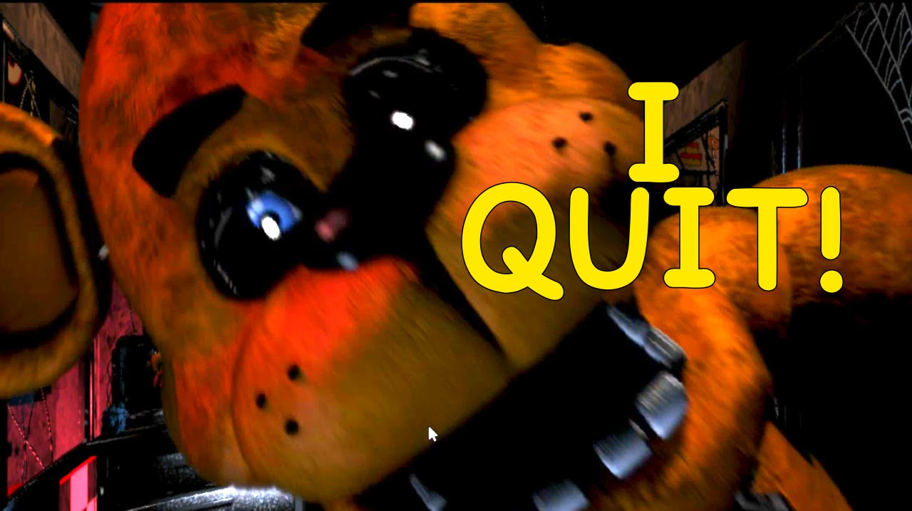 I F King Quit Five Nights At Freddy S Night 4 Youtube