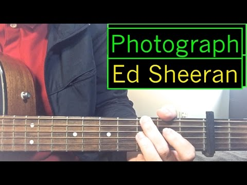 "Ed Sheeran - ""Photograph"" - Guitar Tutorial (Intro + Rhythm) & Chords Lesson"