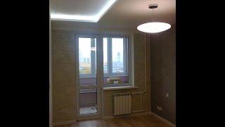 Комплексний ремонт 3-ки в Мінську. #Вітальня і спальня