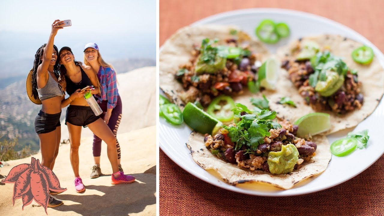 VEGAN What I Eat in a Day   Easy Bean Taco Recipe