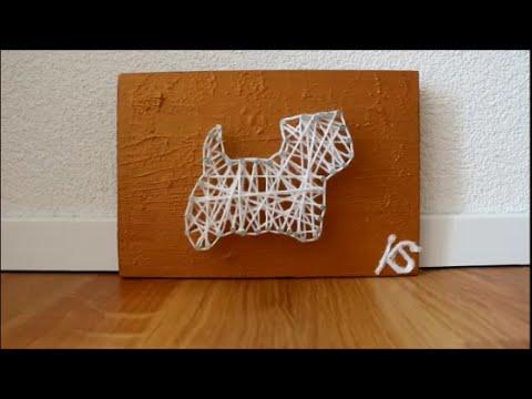DIY: Zeitraffer Westie Hund Faden Bild /String-Art/ Fadenbild /Fadenkunst basteln