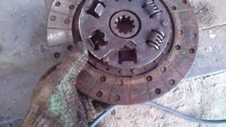 Неисправность сцепления на ВОЛГЕ(Вышло со строя сцепление на машине Волга ГАЗ-24 далеко от дома. Виной оказался не качественный диск сцеплени..., 2015-05-01T08:03:20.000Z)