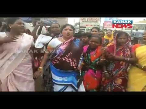 Black Flag March Against Naveen Patnaik In Jajpur
