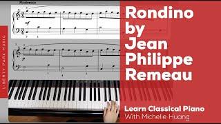 Rondino by Jean Philippe Rameau | Early Intermediate Piano | Video Lesson