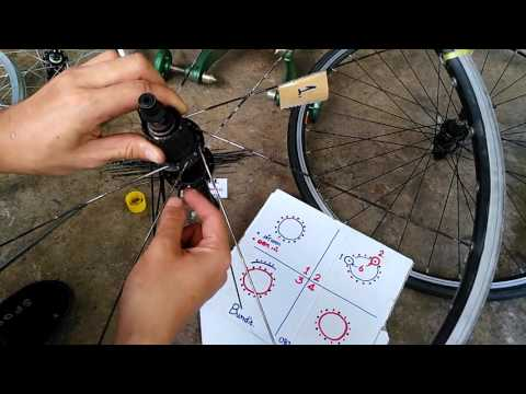 วิธีขึ้นซี่ลวด วงล้อจักรยาน part 2 By.Bundit / Line ; @xmh0251s
