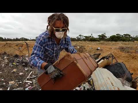The Things You do to Rescue Beautiful Antiques - Rubbish Dump Trash & Treasure in Australia