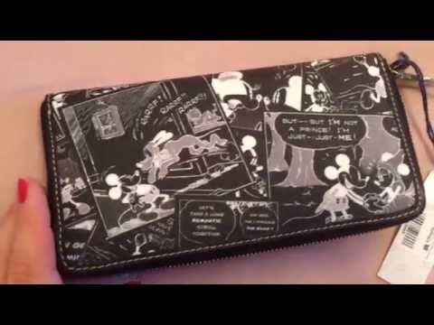 Dooney Mickey Comic Strip Wallet Unboxing