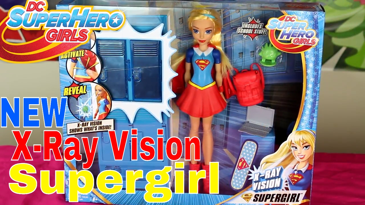 DC SuperHero Girls X Ray Vision Supergirl Play Set NewX Ray Vision Supergirl