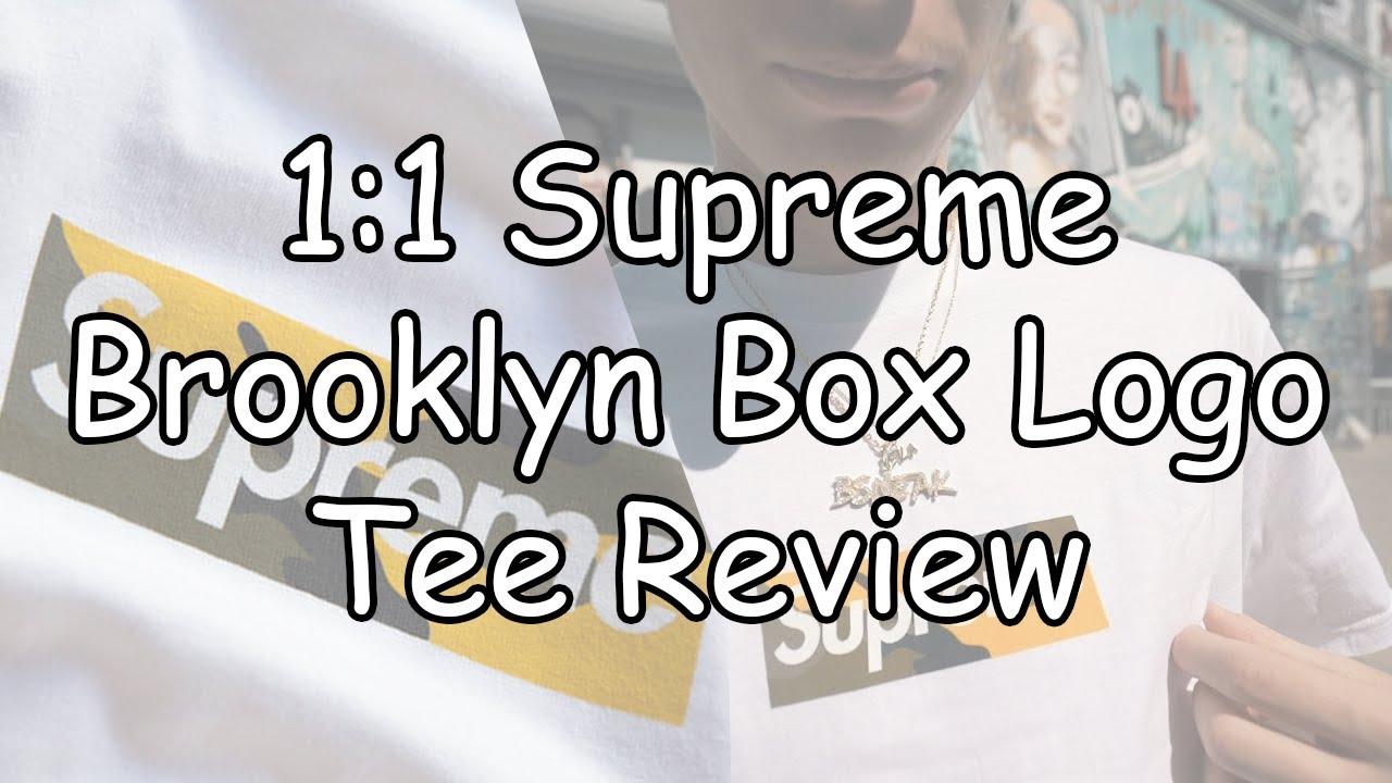 REVIEW] FAKE SUPREME BROOKLYN BOX LOGO TEE (1:1 FROM TEENAGECLUB