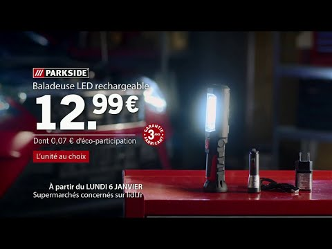 Lidl Baladeuse Led Rechargeable Parkside 6 01 Publicite Youtube