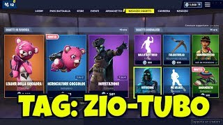 FORTNITE SHOP today April 2nd skin LEADER SQUADRA OF COCCOLE and hang glider INCROCIATORE COCCOLOSO