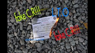 How to Verify Fake C.R of motor Vehicle