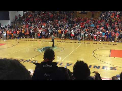 North stafford high school deputy dances at lit pep rally XD