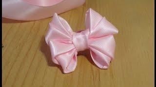 DIY Cute Hair Bow ribbon art tutorial 2