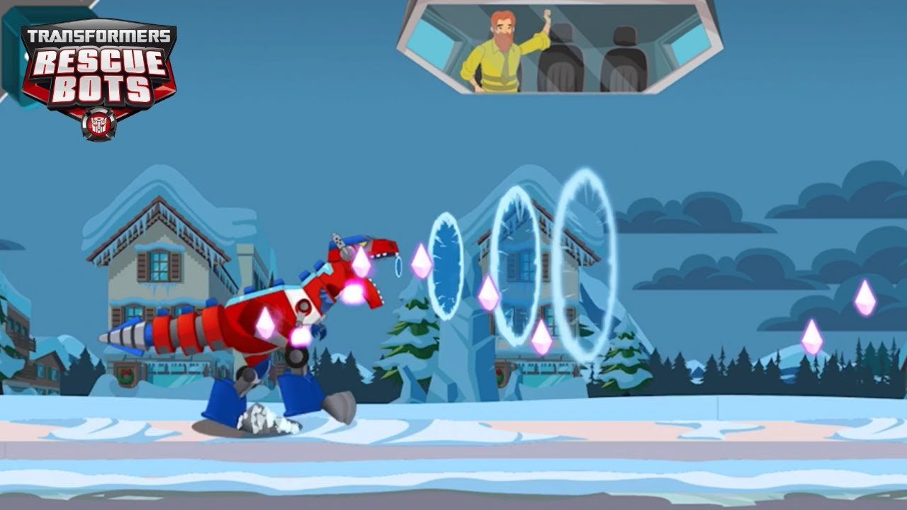 Transformers Rescue Bots: Dash 🤖Play as OPTIMUS PRIME: leader of the Autobots, with the T-Rex Roar!