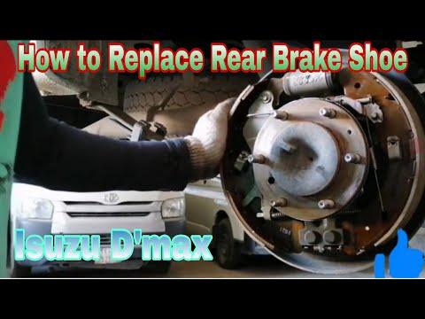 How to Replace Brake Shoe Rear Isuzu D-Max