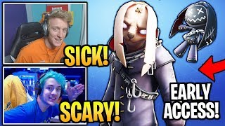 Streamers Get & USE *NEW* NIGHTMARE Set 'Nitehare' SKIN! (EARLY ACCESS) Fortnite Moments