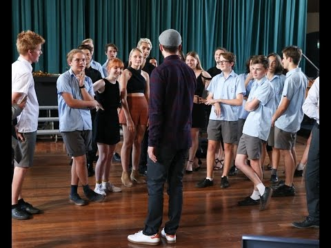 Newtown High School of the Performing Arts masterclass with Justin Timberlake