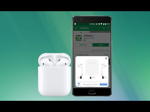 Airpods Fully Working With Android Play Pause Gesture Double Tap Battery Percentage Etc Youtube