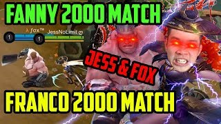 2 HARAPAN BANGSA!! FANNY 2000 MATCH + FRANCO 2000 MATCH 1 TIM BOSS!! JESS + FOX - Mobile Legends