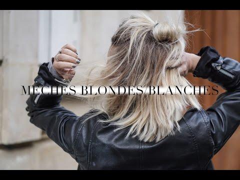 Coiffure femme mi long meche blonde
