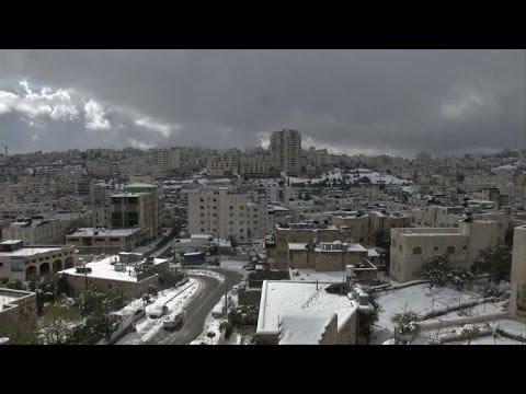 Le Moyen-Orient sous la neige