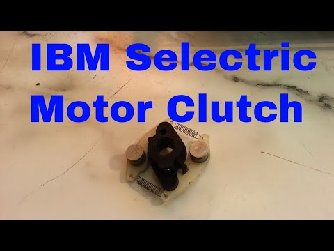 IBM Selectric Typewriter Motor Clutch Replacement Centrifugal, Belt Adjustment