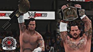 WWE 2K18: CM Punk Top 5 WWE/World Championship Wins!