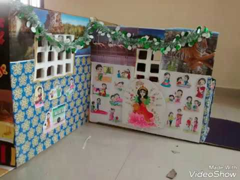 DIY toy house for kids/ cardboard house / wealth from waste /play House /easy do it yourself
