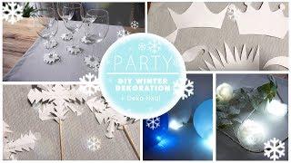 DIY WINTERLICHE PARTY DEKO / HAUL  schnell und einfach Geburtstag Silvester Weihnachten
