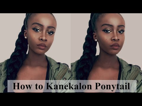 How to Kanekalon Ponytail Hairstyle