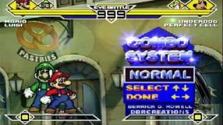 Mario & Luigi (SSBB) vs Underdog & Cell MUGEN Battle!!!