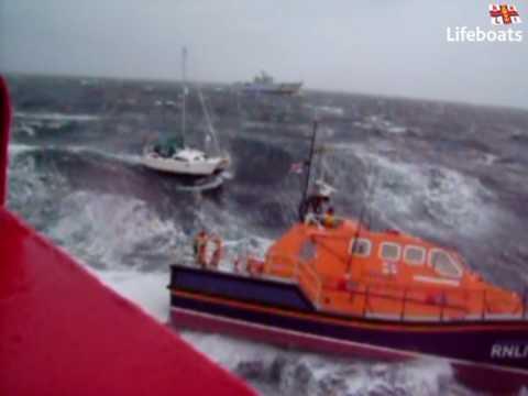 RNLI Peterhead Tamar Lifeboat rough sea poor day RNLI Film of the year