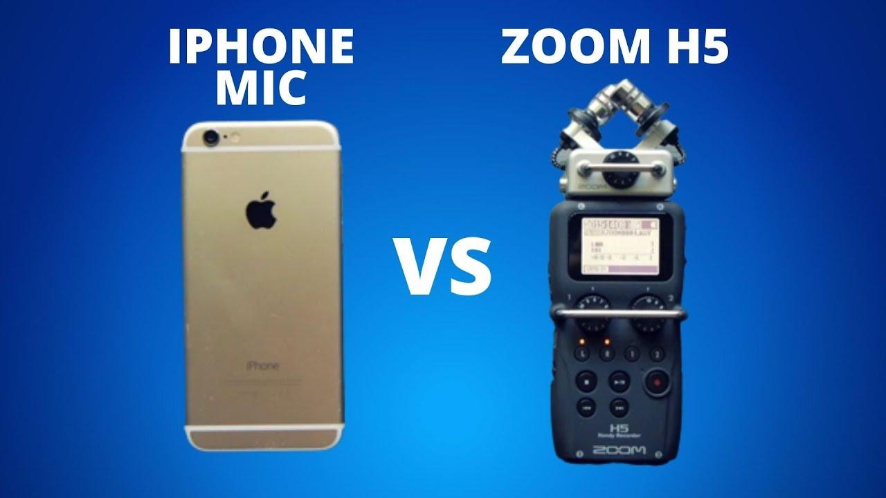 iPhone vs Zoom H5 - Audio Mic Test