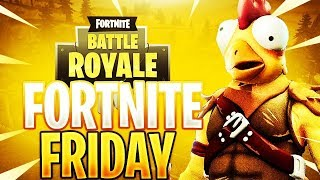 FORTNITE PS4 LIVE: FORTNITE FRIDAY!! - NEW *TENDER DEFENDER* SKIN - PLAYING WITH *SUBSCRIBERS*!!!